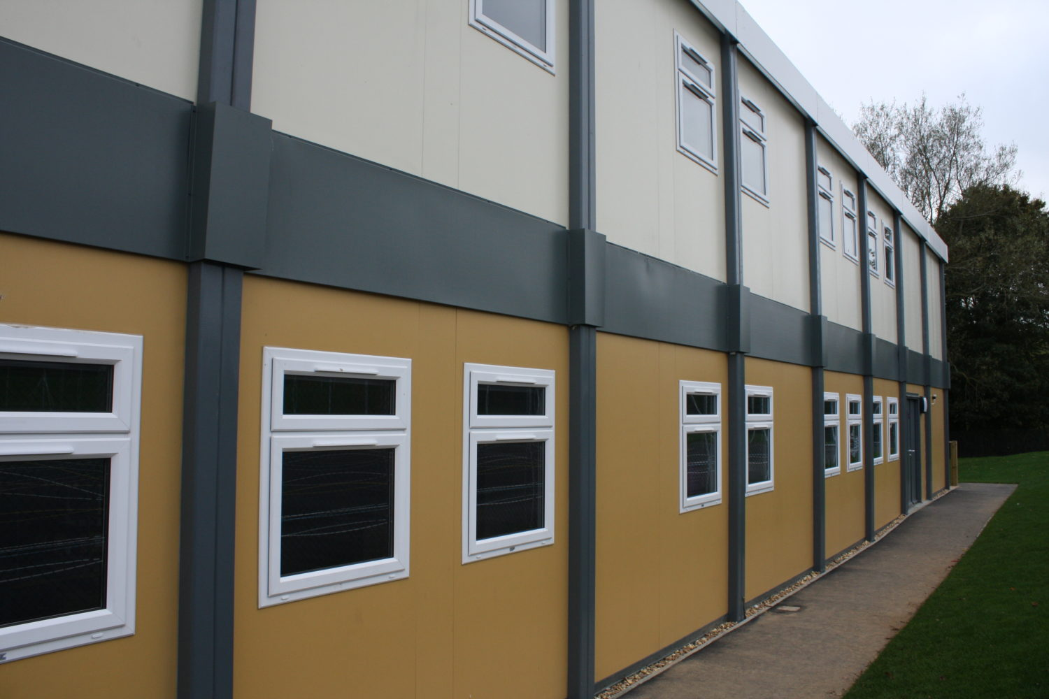 outside view of two storey modular building