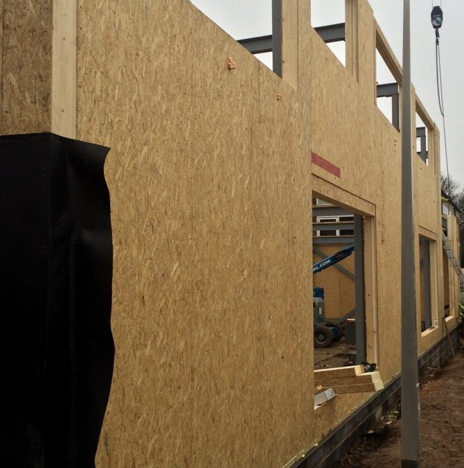 Linden Lodge School Update: SIP walls fitted