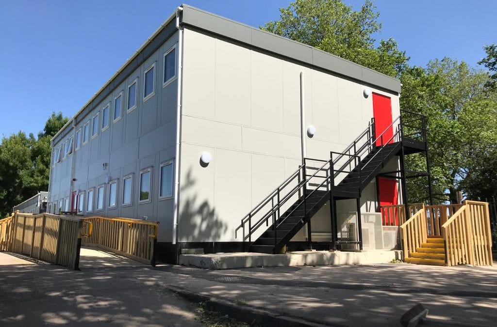 NEW MODULAR CLASSROOMS COMPLETED ON TIME